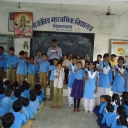 UDAIPUR DISTRIBUTION OF STATIONARY,PEN AT GOVT SCHOOL, CHIKALWAS